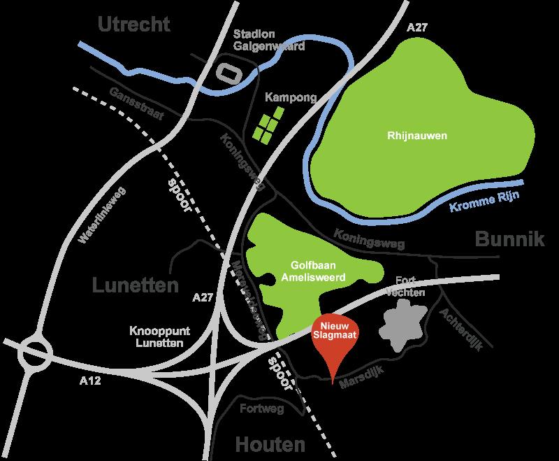 Route naar Nieuw Slagmaat in Bunnik